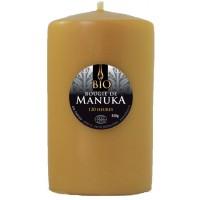 Bougie de cire d'abeille Bio Manuka 450g 7.5x12 cm 120 heures d'utilisation