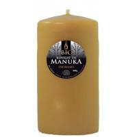 Bougie de cire d'abeille Bio Manuka 800g 7.5x22 cm 230 heures d'utilisation